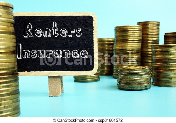Conceptual photo about Renters Insurance with handwritten text. - csp81601572