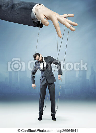 Conceptual picture of controlled employee - csp26964541