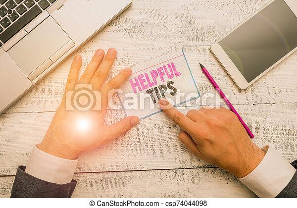 conceptueel, gegeven, informatie, foto, het tonen, zijn, tekst, tips., of, knowledge., meldingsbord, raad, behulpzaam, geheim - csp74044098