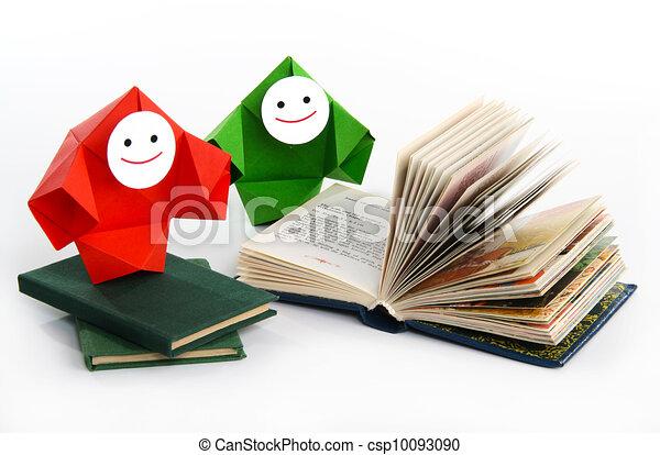 conceptuel, livres, image, étudier - csp10093090