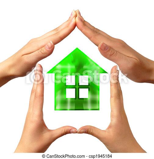 conceptuel, maison, symbole - csp1945184