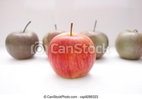 conceptuel, pommes, image. - csp9286323