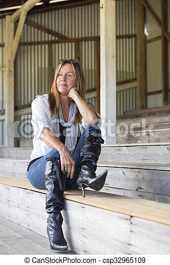 Outdoor mature wife