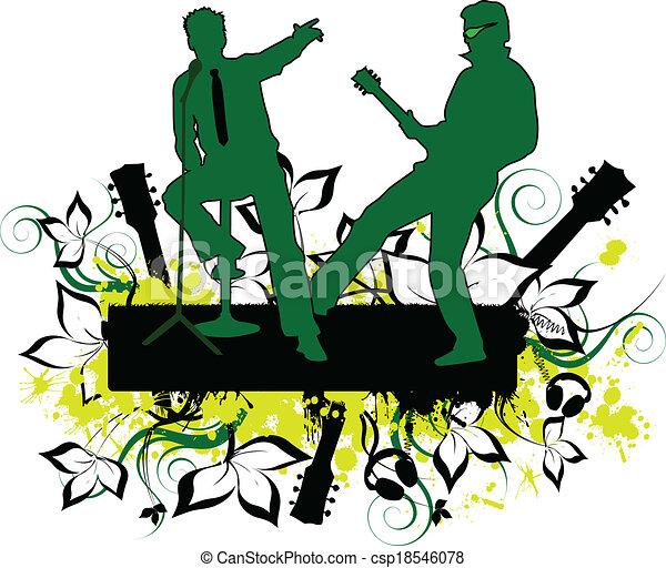 Concert-grunge background - csp18546078