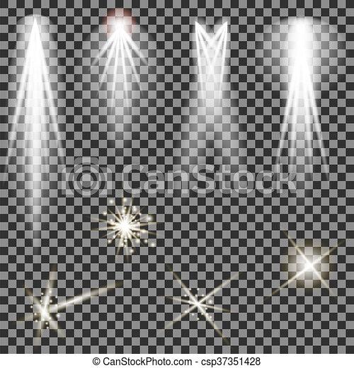 Concert Lighting. Stage Spotlights. Lantern - csp37351428