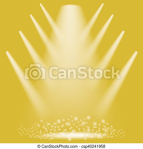 Concert Lighting Stage Spotlights Background Lantern Illuminates