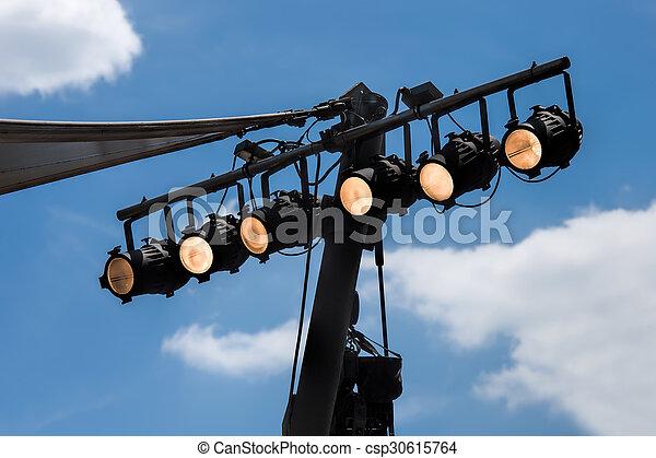 concert lighting - csp30615764