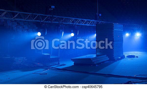 concert., luce, scena, durante - csp40645795