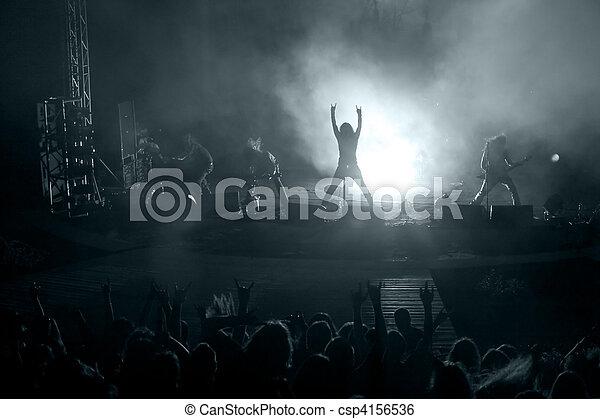 concert roche, scène - csp4156536