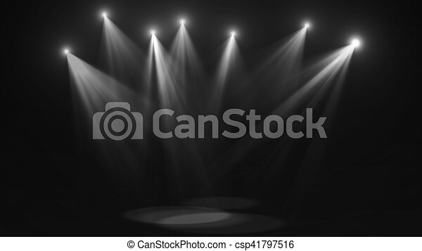 Concert stage lights (super high resolution) - csp41797516