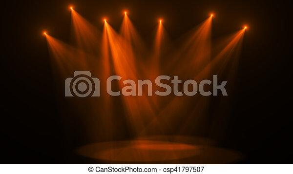 Concert stage lights (super high resolution) - csp41797507
