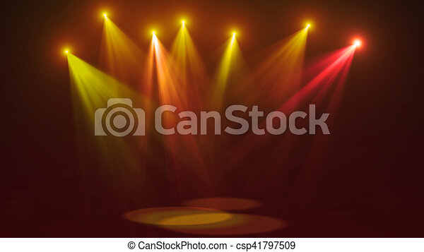 Concert stage lights (super high resolution) - csp41797509