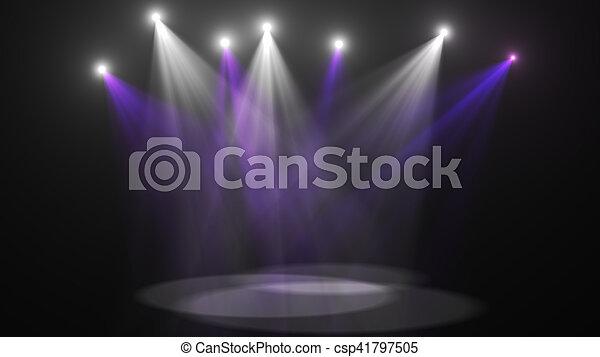 Concert Stage Lights Super High Resolution