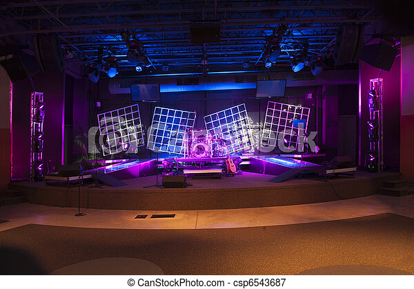 Concert Stage lit and ready - csp6543687