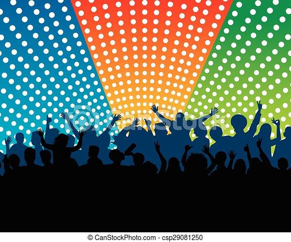 concerto, folla - csp29081250