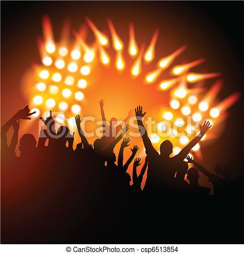 concerto, folla - csp6513854