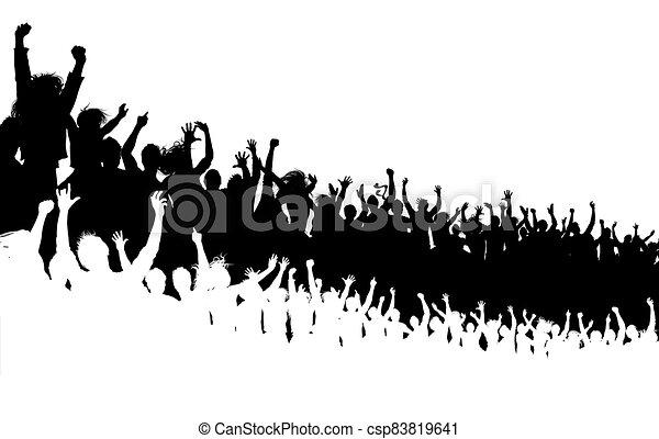 concerto, folla - csp83819641