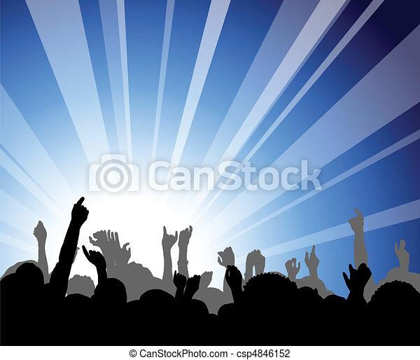 concerto, pessoas - csp4846152