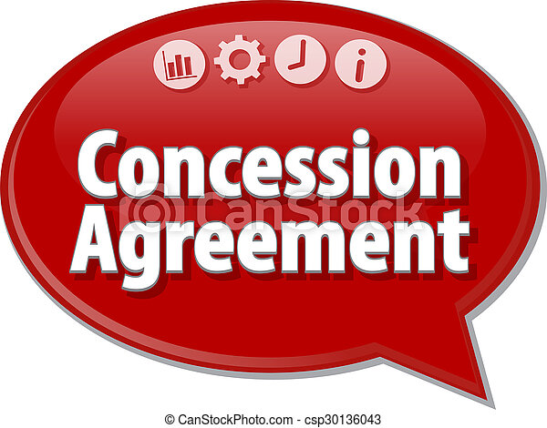 Concession Agreement Business Term Speech Bubble Illustration