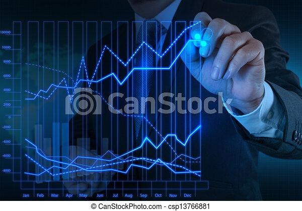 concetto, affari, lavorativo, moderno, mano, computer, uomo affari, nuovo, strategia - csp13766881