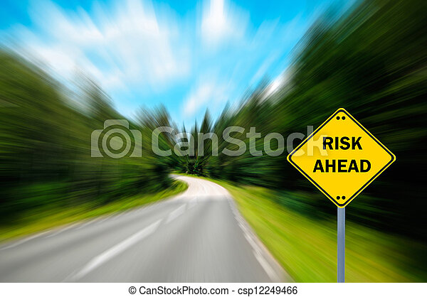 """concetto, affari, """"risk, -, ahead"""", segno - csp12249466"""