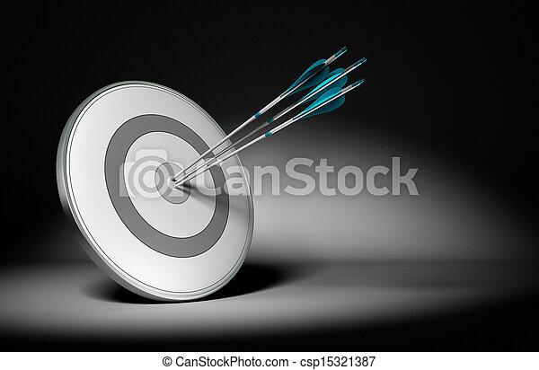 concetto, affari, riuscito, ditta, -, obiettivi - csp15321387