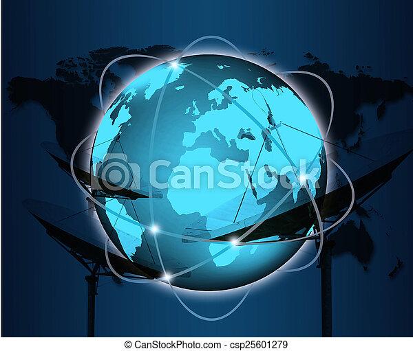 concetto, affari, serie, globale, concetti, internet - csp25601279
