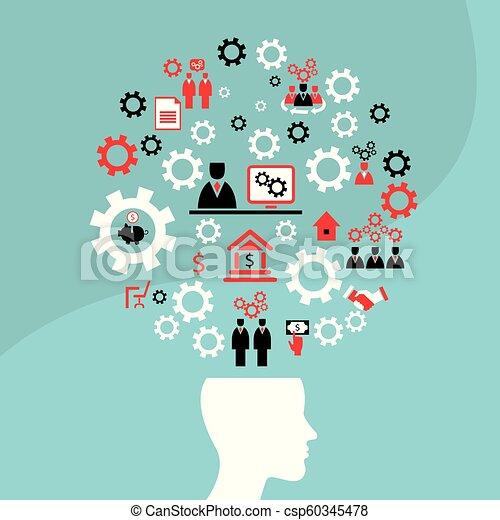 concetto, affari, successo, idea, luminoso, uomo - csp60345478