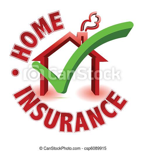 concetto, assicurazione, casa - csp6089915