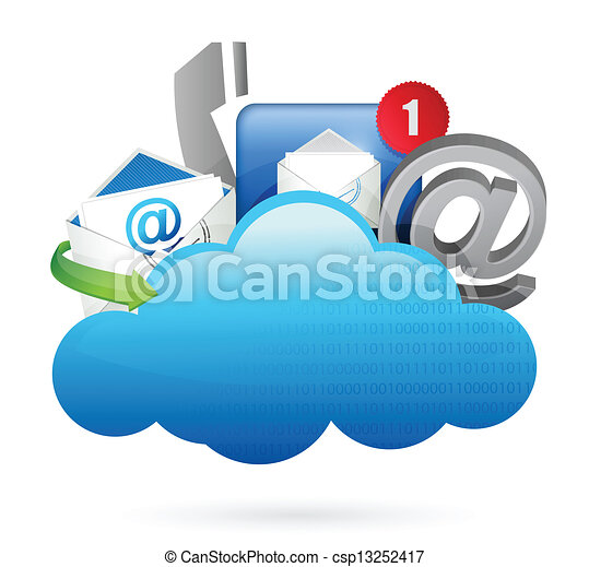 concetto, calcolare, ci, nuvola, contatto - csp13252417