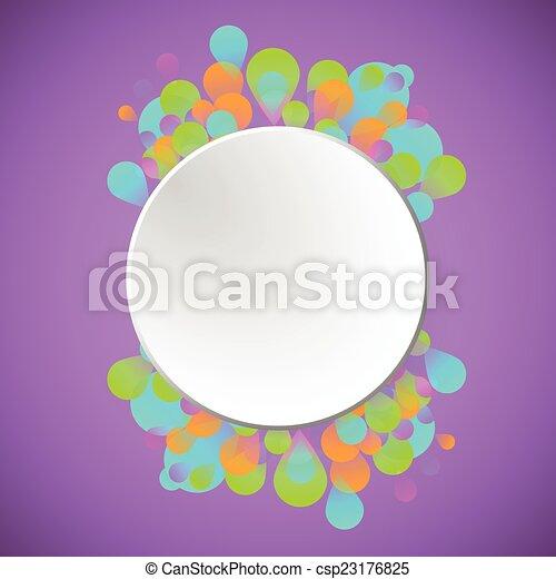 concetto, celebrazione, fondo, viola - csp23176825