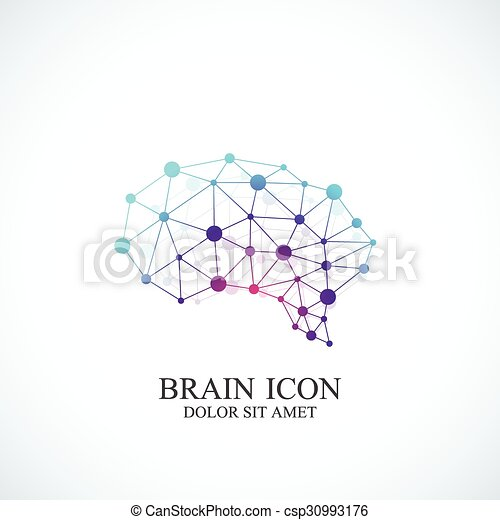concetto, colorito, creativo, cervello, vettore, disegno, sagoma, logo., icona - csp30993176