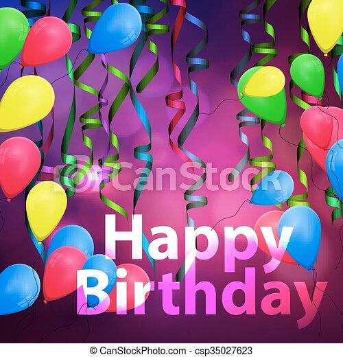 concetto, compleanno, fondo, celebrazione - csp35027623