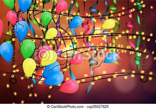 concetto, compleanno, fondo, celebrazione - csp35027625