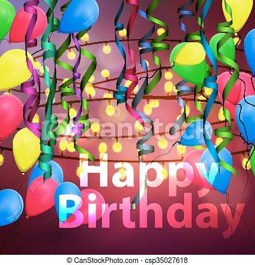concetto, compleanno, fondo, celebrazione - csp35027618