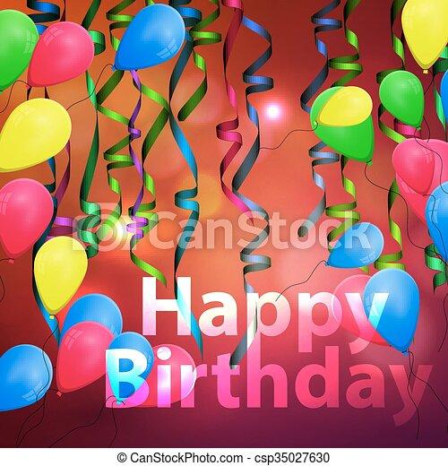 concetto, compleanno, fondo, celebrazione - csp35027630