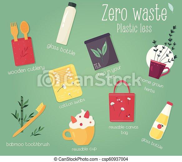 concetto, eco, collezione, rules., zero, spreco - csp60937004
