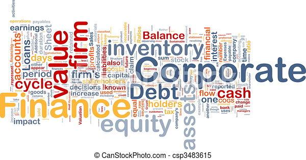 concetto, finanza corporativa, fondo - csp3483615