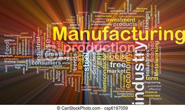 concetto, fondo, manifatturiero - csp6197059