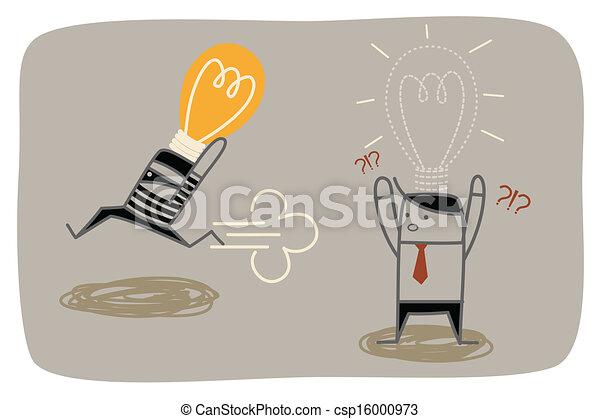 concetto, idea affari, ladro, rubare, uomo - csp16000973
