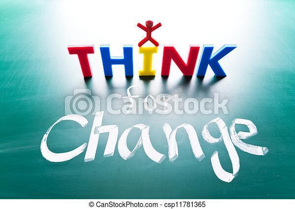 concetto, lavagna, cambiamento, pensare, parole - csp11781365