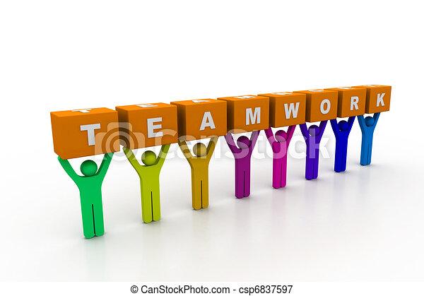 concetto, lavoro squadra - csp6837597