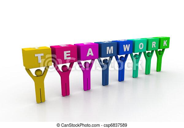 concetto, lavoro squadra - csp6837589