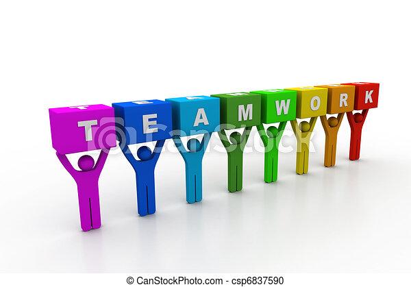 concetto, lavoro squadra - csp6837590