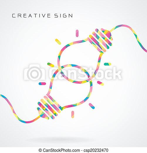 concetto, luce, coperchio, idea, creativo, aviatore, opuscolo, fondo, manifesto, disegno, bulbo - csp20232470