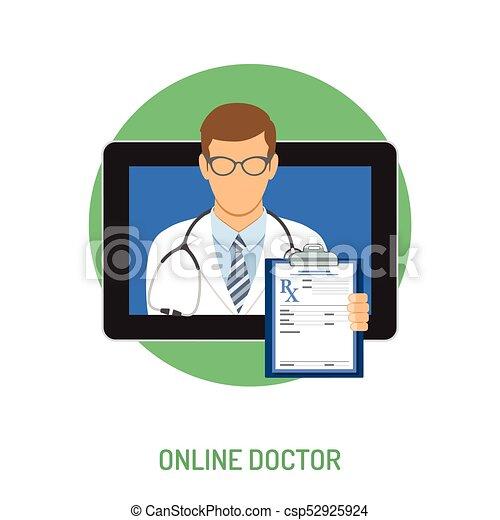 concetto, medico linea - csp52925924