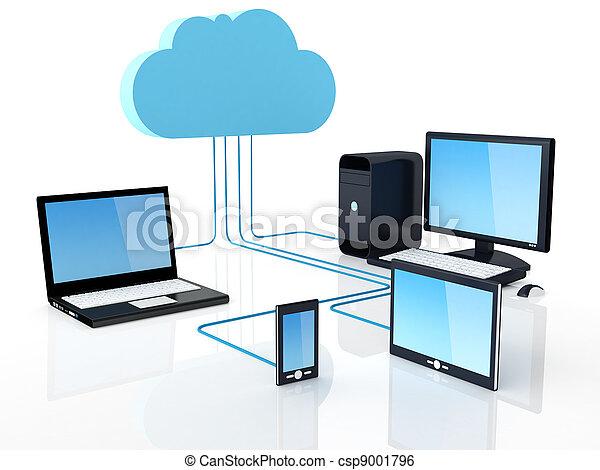 concetto, nuvola, calcolare - csp9001796
