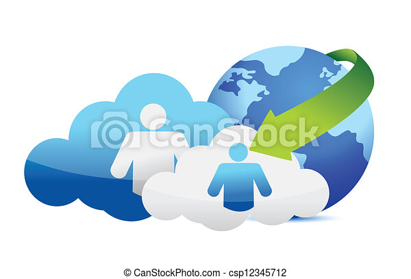 concetto, nuvola, calcolare - csp12345712