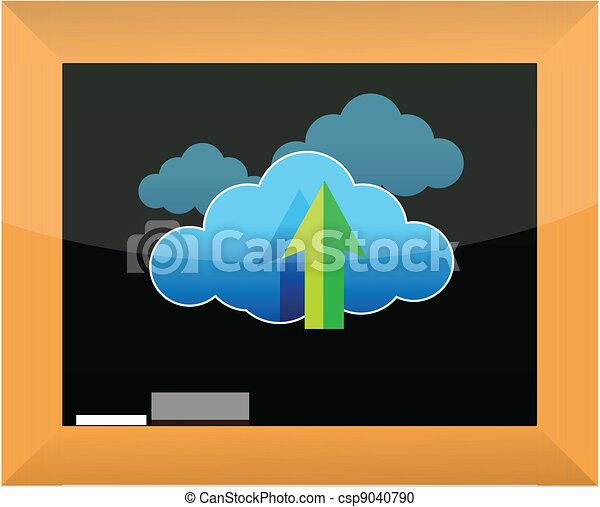 concetto, nuvola, calcolare - csp9040790