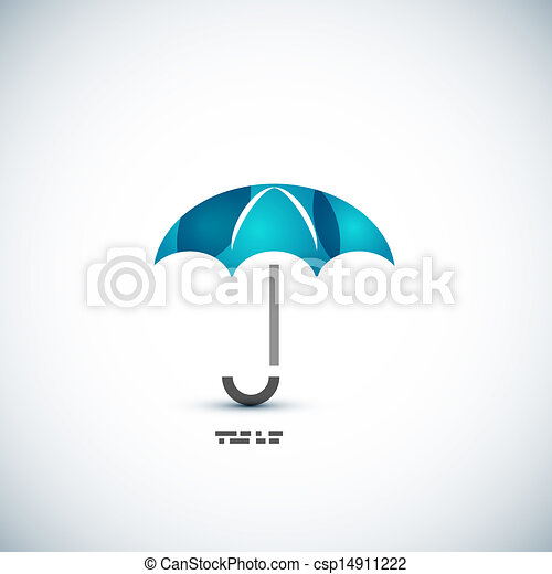concetto, ombrello, protezione, icona - csp14911222